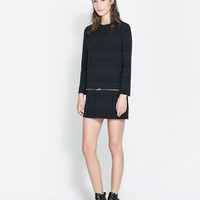 CHECKED DRESS WITH ZIPS - Dresses - Woman | ZARA United States