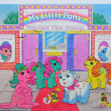 Vintage My Little Pony 24 Piece Jigsaw Puzzle 1988
