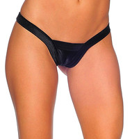 Pole Dancers Comfort V Black Thong