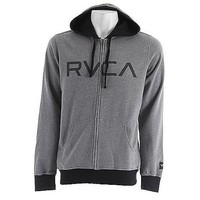 RVCA Men's Contrast Zip Fleece Hoodie, Grey Noise, Small