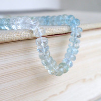 51% OFF Multi Aquamarine Gemstone Faceted Rondelle Blue Green 5.5mm Full strand 90 beads