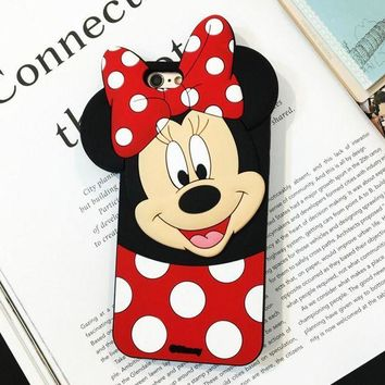 Disney 3D Mickey & Minnie mobile phone case for iPhone X 7 7plus 8 8plus iPhone6 6s plus I