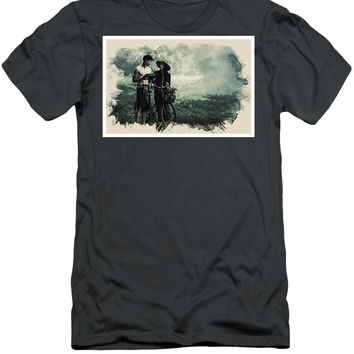 Watercolor Conseptual Landscape - Deep In The Forest - Men's T-Shirt (Athletic Fit)