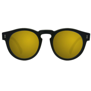 Illesteva Leonard I Black with Gold Mirror Lens