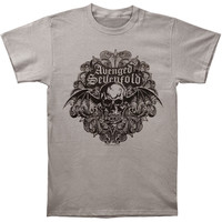 Avenged Sevenfold Men's  Scrolled Out Slim Fit T-shirt Grey