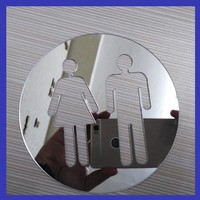 3D Acrylic Sign toilet WC Crystal Stereo mirror wall stickers stickers home Attached bathroom toilet accessories home decor