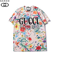 GUCCI Woman Men Flower Fashion Print Tunic Shirt Top Blouse