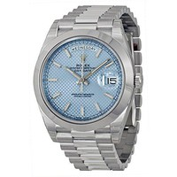 Rolex Day-Date Automatic Ice Blue Dial Platinum Men's Watch 228206 IBLSP