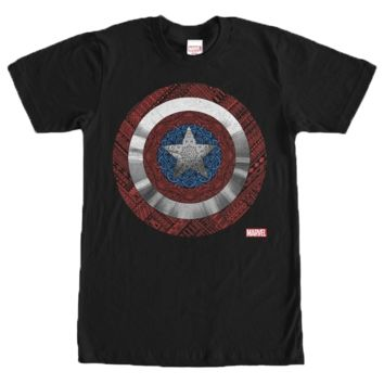 Captain America Civil War Elaborate Shield T-Shirt