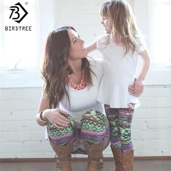 Print Legging Elastic Mommy Girl Pants Parenting Women Leggings Christmas Skinny Leggings Parent Child Outwear B7N104A