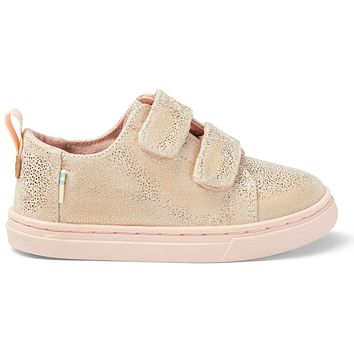 TOMS - Tiny Lenny Double Strap Rose Gold Iridescent Droplets Sneakers