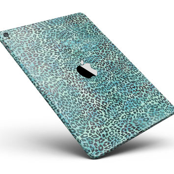 "Blue-Green Watercolor Leopard Pattern Full Body Skin for the iPad Pro (12.9"" or 9.7"" available)"