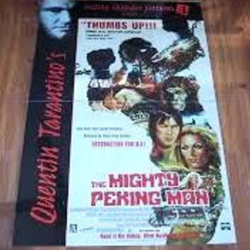 The Mighty Peking Man Movie Poster 27x40 Used Quentin Tarantino