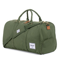 Herschel Supply Co.: Novel Duffle Bag - Dark Army Coated Cotton Canvas / Indigo Denim