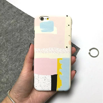 Art Painting Slim Matte Hard Plastic Phone Back Cover Case For iPhone 5 5s SE 6 6s 6 Plus 6s Plus