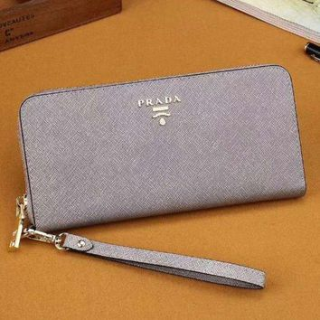 PEAPJ3V Prada Women Fashion Leather Zipper Wallet Purse-3