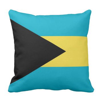 Bahamas Flag American MoJo Pillow