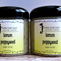Lemon Poppyseed Sugar Scrub, Body Scrub, Hand Scrub