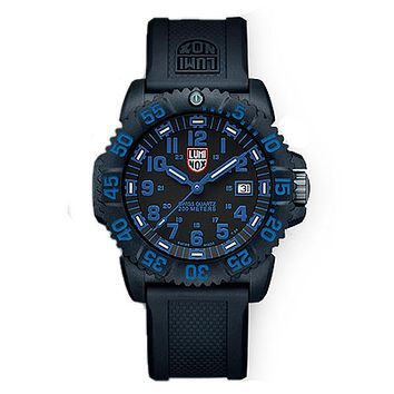 Luminox EVO Navy SEAL Colormark - Blue Indicators - Double Pin Buckle Strap