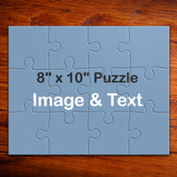 "12 Large puzzle pieces, 10""x8"" Personalized puzzle"