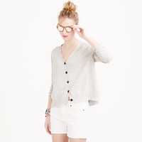 SUMMERWEIGHT COTTON V-NECK CARDIGAN