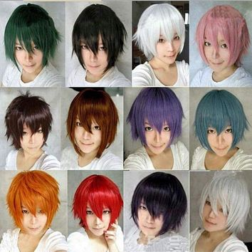 14 Colors Anime Cosplay Wig Short