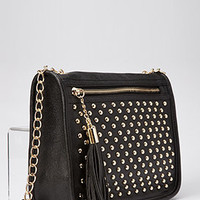 Studded Tassel Crossbody