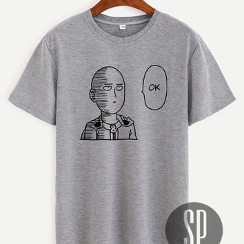 One Punch Man Shirt Saitama Unisex Size Tshirt