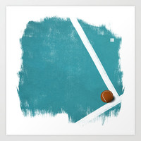 Tennis Art Print by Matt Irving