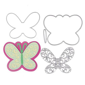 102*80mm butterfly customized New Metal Stencil Metal Cutting Dies Cut Practice Hands-on DIY Scrapbooking Album Craft dies Tool