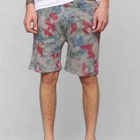 Vanishing Elephant Print Sweat Short - Urban Outfitters
