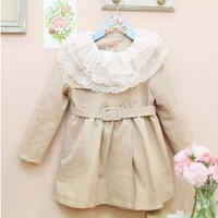 Vintage Inspired Girls Clothes Vintage Inspired Little Gilrs Trench Coat | Vindie Baby