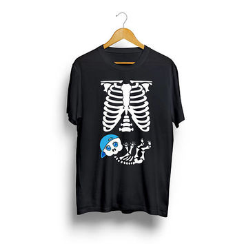 Skeleton Baby Boy Pregnancy T shirt Pregnancy Shirt Baby Shower Cute T shirt Halloween T shirt Mother Maternity Birthday Gift Funny T shirt