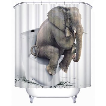 Elephant Thinkers Waterproof Shower Curtain Bathroom Modern Decor Bath Curtains Pathway Door Divider Living Room Screening