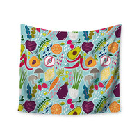 "Agnes Schugardt ""Garden Song"" Blue Food Wall Tapestry"