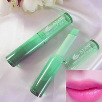 2016 new beauty Hydrating Fruity Smell Lip balm Changeable Color lip cream Women Cosmetic Makeup Lipstick M02056