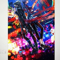 Home Decor Anime Tokyo Ghoul Kaneki Ken Wall Scroll Poster Fabric Painting Japanese Cosplay 23.6 x 35.4 inches - 073 by Tokyo Ghoul