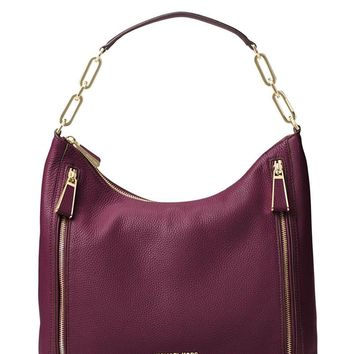 MICHAEL Michael Kors Matilda Leather Shoulder Bag - Plum