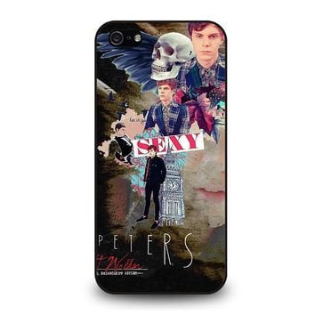 evan peters college iphone 5 5s se case cover  number 1