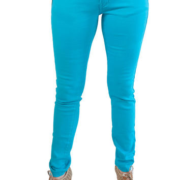 Turquoise Skinny Geso Jeans