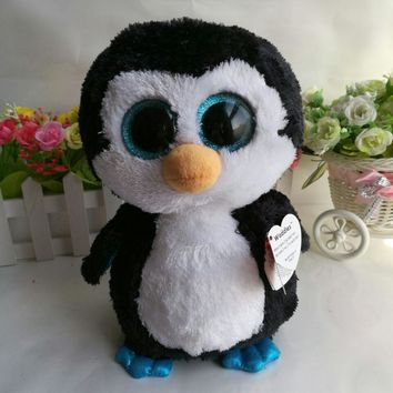 Waddles penguin TY BEANIE BOOS 10' 25CM BIG EYE Plush Toys Stuffed animals soft toy baby toy decor toy