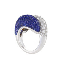 Van Cleef & Arpels Diamond and 'Mystery' Set Sapphire Ring