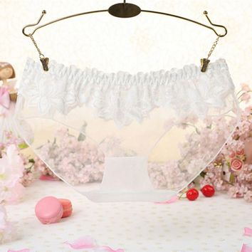 All Code New Fashion High Quality Transparent Low Waist Elastic Soft Sexy Lace Panties