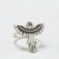 AEO Women's Eagle Cocktail Ring (Silver)