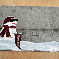 Florida State Seminoles, FSU, snowman sign, personalized