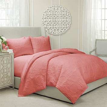 Vue 13811beddkngcrl Barcelona Coral Three Piece King