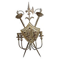 Coat of Arms Candle Sconce