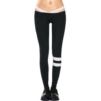DCCKH6B push up legging fitness clothing workout clothes for women low waist legging striped work out legging female sweat pants HP0437