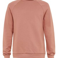 Rust Brown Raglan Sweatshirt - Topman