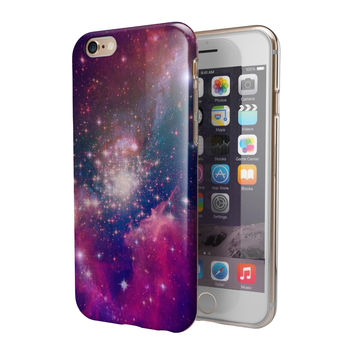 Vibrant Sparkly Pink Space 2-Piece Hybrid INK-Fuzed Case for the iPhone 6/6s or 6/6s Plus